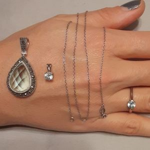Jewelry - 1 CHAIN NECKLACE, 2 PENDANTS, 1 RING